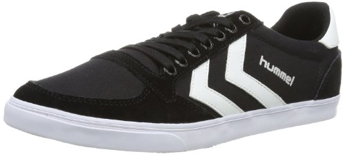 Hummel Unisex Adults Slimmer Stadil Canvas, Low-Top Sneakers, Black (Black/White 2113), 7.5 UK (41 EU UK)