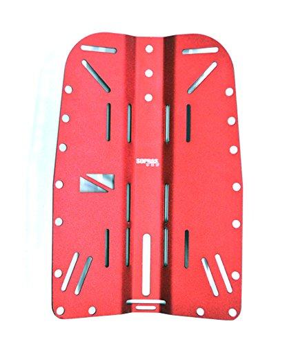 Sopras Sub Alu Backplate tech dive plate aluminium RED Scuba Diving Tek by Sopras Sub