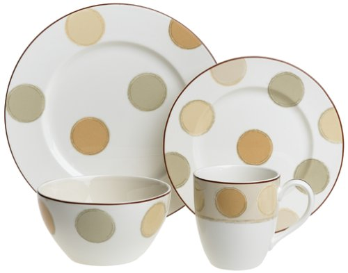Noritake Mocha Java 4-Piece Dinnerware Place Setting, Service for 1