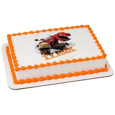 Dinotrux Outside The Toolbox Licensed Edible Cake Topper #40369 Decopac
