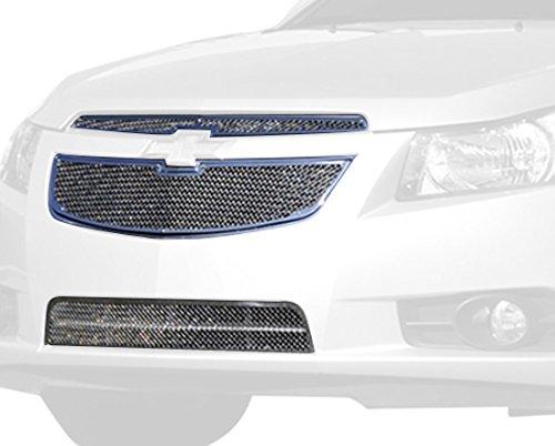 T-Rex Grilles 54125superior clase malla pequeña acero acabado pulido rejilla superposición para Chevrolet Cruze