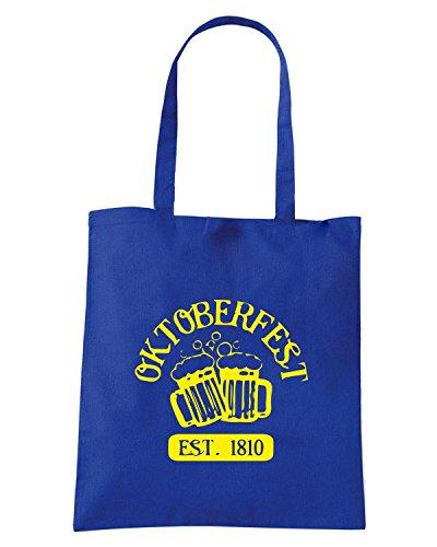 T-Shirtshock - Bolsa para la compra OLDENG00814 oktoberfest Azul Real