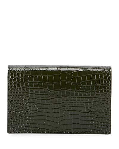 2d972ace35f Saint Laurent Kate Monogram YSL Tassel Croco Wallet on Chain Bag - Miroir  Hardware made in Italy (Green)  Handbags  Amazon.com