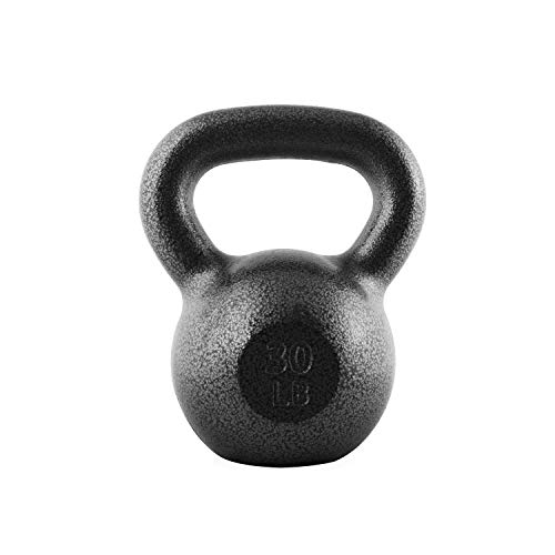 Cast Iron Ball (CAP Barbell Cast Iron Kettlebell, Black, 30 lb.)
