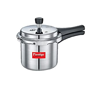 Prestige Popular Aluminium Pressure Cooker, 2 Litres, White