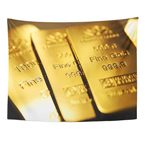 - Tapestry Yellow Bullion Gold Bars Ingot Vault Objects Home Decor Wall Hanging Living Room Bedroom Dorm 60x80 inches