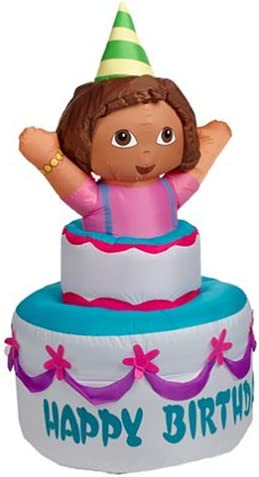 Brilliant Amazon Com Gemmy Self Inflating Dora The Explorer On Happy Funny Birthday Cards Online Alyptdamsfinfo