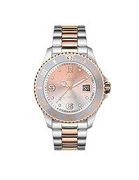 Ice-Watch 016769 - Reloj de acero inoxidable para mujer, diseño de puesta de sol, color plateado y dorado