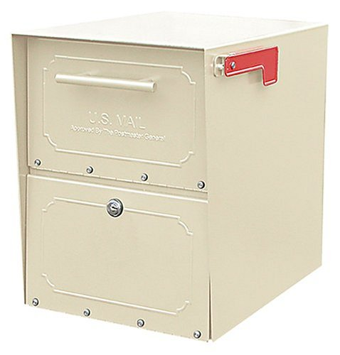Architectural Mailboxes Oasis Classic Large High Security Parcel Mailbox, Sand