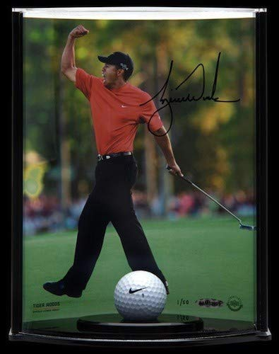 Tiger Woods Autographed Signed Memorabilia Display Range Used Ball Le Of 50 Upper Deck Authentic