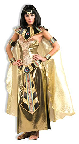 Woman's Egyptian Goddess Costume, Gold, One Size
