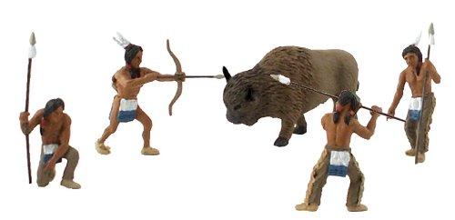 Mini Scene Kit - Scene-A-Rama SP4344 Setters Diorama Kit, Native American Hunt Mini-Figures, Multicolor