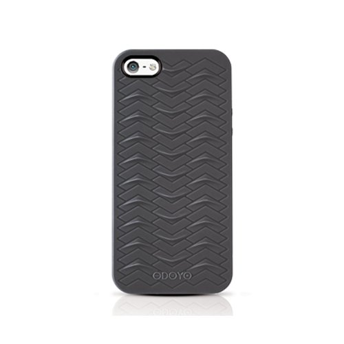 buy popular 90997 0a82a Odoyo PH360MB SharkSkin Case for iPhone 5 - 1 Pack - Retail Packaging -  Midnight Black