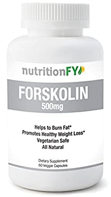Forskolin 500mg per serving - Accelerates weight loss - Appetite suppressant - Helps lean muscle