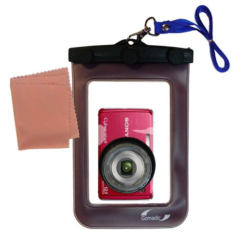 Dust Proof Outdoor Housing (Gomadic Clean-n-Dry Waterproof Camera Case for the Sony Cyber-shot DSC-W230 unique floating design)