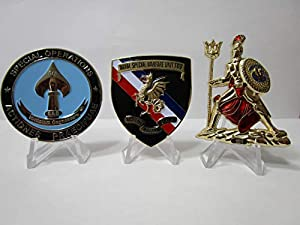 Set of 3 Navy Seal Challenge Coins CIA Seal Team VI Devgru Team Two Little Creek & NSWC from OWT
