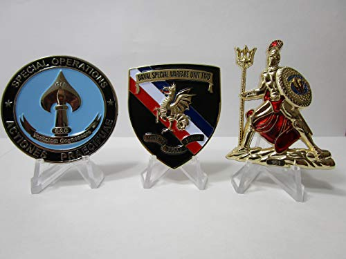 Set of 3 Navy Seal Challenge Coins CIA Seal Team VI Devgru Team Two Little Creek & NSWC
