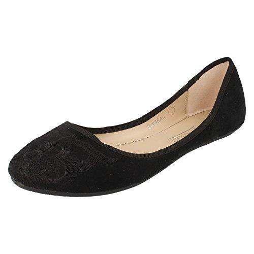 Ladies Anne Michelle Ballerina Flats L4946 Black