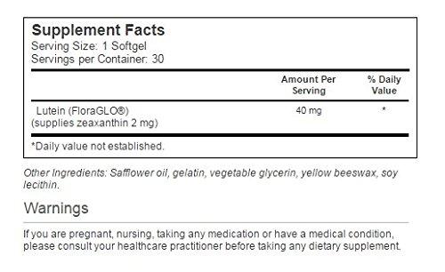 Solgar – Lutein 40 mg, 30 Softgels - 3 Pack
