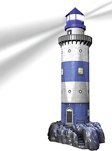 Ravensburger Lighthouse - Night Edition - 216 Piece 3D Jigsaw Puzzle for Kids and Adults - Easy Click Technology Means Pieces Fit Together Perfectly