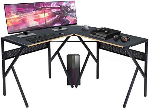 Aingoo Reversible L Shaped Gaming Desk Computer Corner Desk Writing Desk Workstation Table