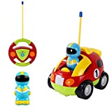 ILink Remote Control Racing Car Toy - RC Cartoon Car Radio Control Toys with Music and Lights - Best Gift for Kids Toddlers and 2-5 Year Old Children