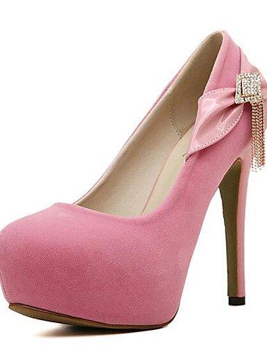 GGX/Damen Schuhe Fleece Frühjahr/Herbst Heels Heels Party & Abend Stiletto Heel Kristall Schwarz/Blau/Pink andere black-us4-4.5 / eu34 / uk2-2.5 / cn33