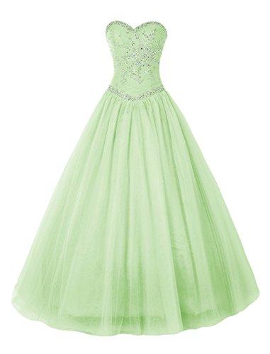 Bbonlinedress Vestido de Fiesta Largo Princesa Elegante Menta