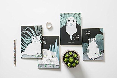 Geschenken UK Leuke Kitten Katten in de nacht tuin A5 gevoerde pagina notities Kitten kat leggen op de grond