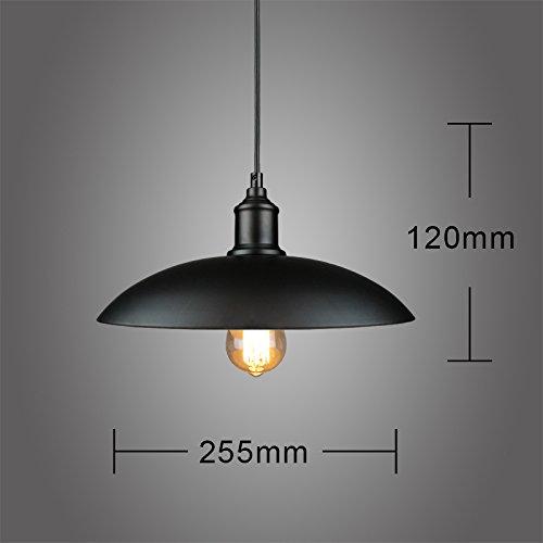 LuckyLibre Creative Moderne Mode Pendentif Luminaires Plafonnier Lustre Chambre Salon Cuisine, Tb122 Noir Blanc -Tb87 Ampoule