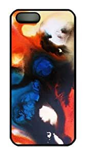 Well-Designed PC Case Cover for iPhone 5 5S Hard Single Back Phone Shell Skin iPhone 5 5S with Mixed media abstract purple painting