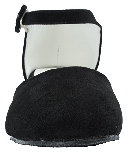 Black Holic Strap Ankle Suede Womens Faux Pumps Sweet g04qq
