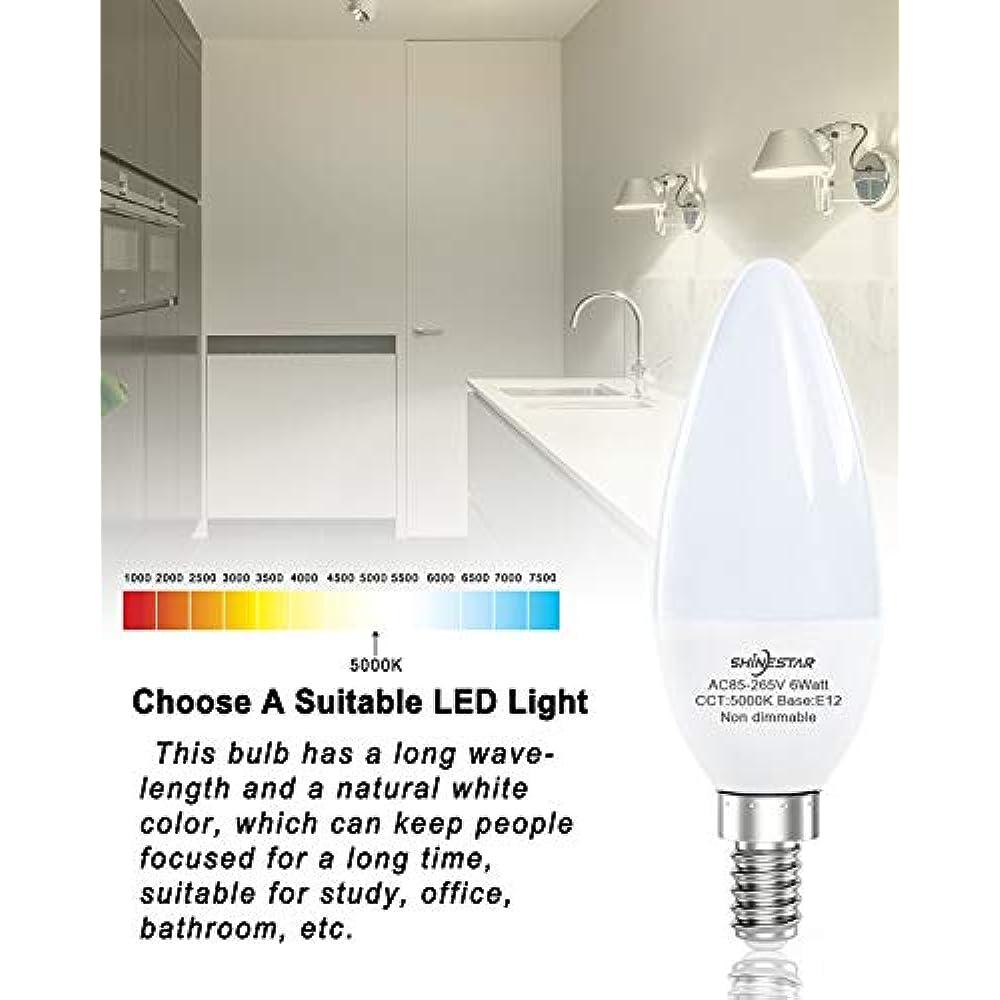 8 Pack E12 Led Bulbs For Ceiling Fan 60w Equivalent
