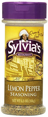Sylvia's Lemon Pepper Seasoning, 5.5-Ounce Containers (Pack of 12)