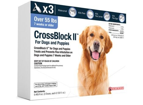 CrossBlock II Flea Preventative for Dogs 55 Lbs and Over (3-Pack)