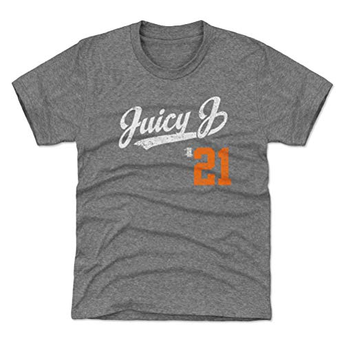 - 500 LEVEL Detroit Baseball Youth Shirt - Kids Large (10-12Y) Tri Gray - Jacoby Jones Juicy J Players Weekend Script O WHT