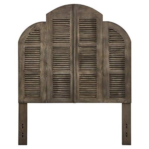 Bedroom Amazon Brand – Stone & Beam Lyla Rustic Slat Bed Headboard – Queen, 64 Inch, China Gray farmhouse headboards