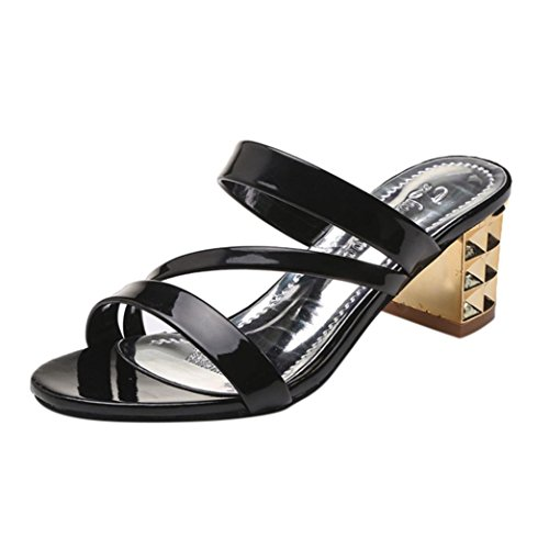 Sliver Glitter Sparkly Women Black Heel Wide 2 Block Chunky Gold Summer Mid Lolittas Shoes Wedge Fit Size Peep High Platform for Sandals Toe Gladiator 7 wnpqxItF0