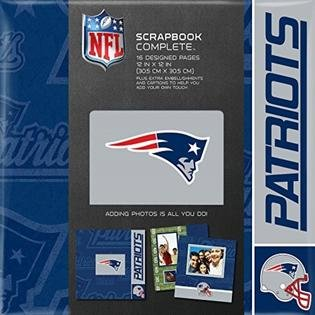 CR Gibson Tapestry Complete Scrapbook Kit, New England Patriots (Tapestry Cr Album Gibson)