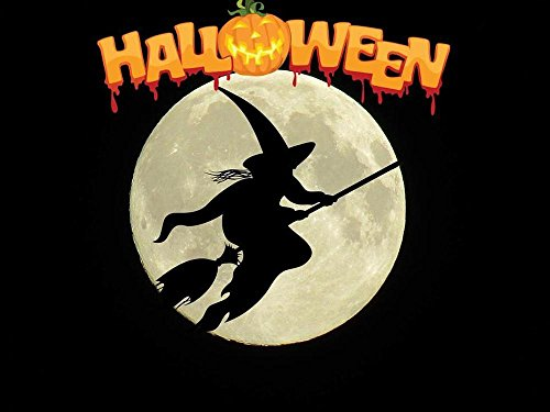 Quality Prints - Laminated 32x24 Vibrant Durable Photo Poster - Halloween The Witch Weird Hexenbesen -
