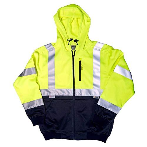 Hi Vis Visibility Hooded Zip SweatshirtHooded Work TopEN471