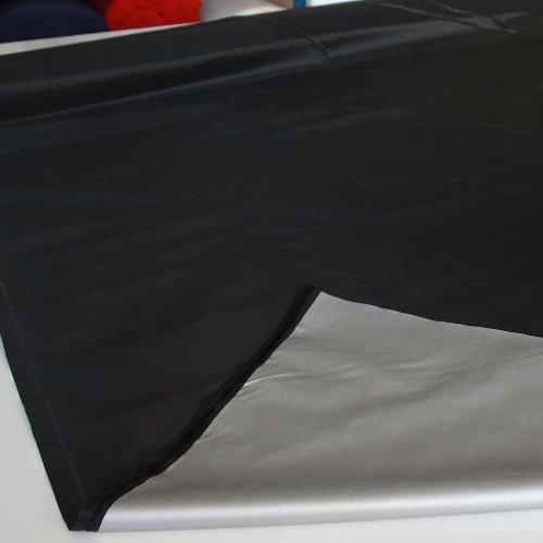 leichter Verdunklungs-Stoff in Schwarz als Meterware - mit beschichteter Rückseite