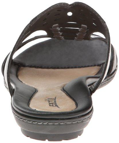 Earth Lagoon Damen Schwarz Leder Folien Sandalen Schuhe Gre Neu EU 36