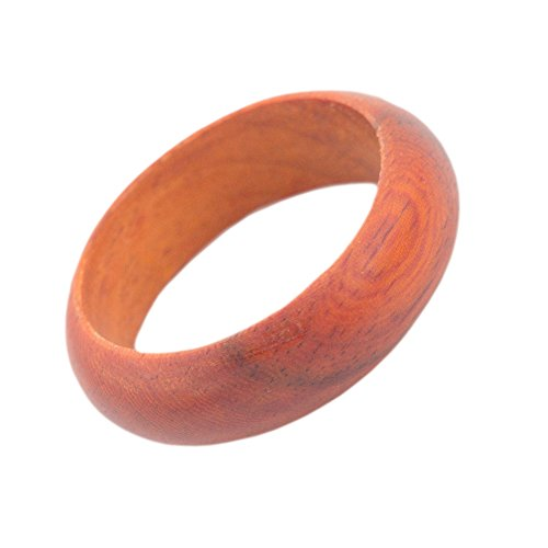 Wood Wedding Ring Wooden Band For Men and Women Natural Rosewood,8mm Size 10