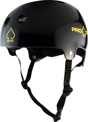 Protec Lasek Plus Terrycloth Liner Helmet (Black, (Lasek Skateboard Helmet)