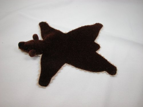 "World of Miniature Bear 5""x4"" Plush Rug Brown #669BR Collectible Miniature from World of Miniature Bears"