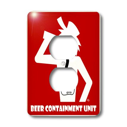 3d Rose 3dRose lsp_14686_6 Beer Containment Unit Red Sign...