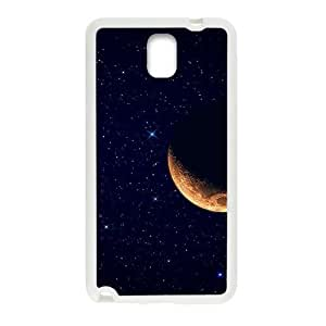 Beautiful Moon And Star Sky White Phone For Case Samsung Note 3 Cover