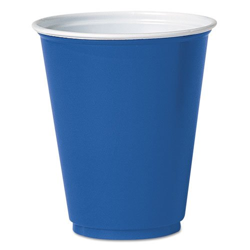 SOLO Cup Company Party Plastic Cold Drink Cups, 7oz, Blue - 20 packs of 50 cups.