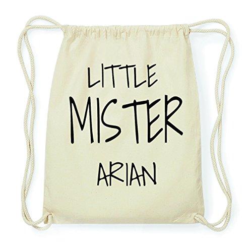 JOllify ARIAN Hipster Turnbeutel Tasche Rucksack aus Baumwolle - Farbe: natur Design: Little Mister